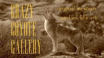 Crazy Coyote Gallery business card