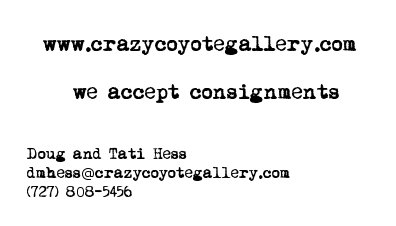 Crazy Coyote Gallery business card2