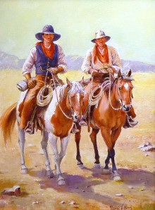 Maria Edith Wellborn Cowboys on Horseback
