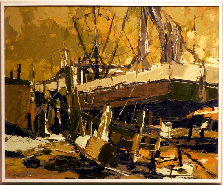 Nanci blair closson dry docked shrimp boat for Abstract salon tucson